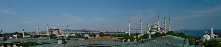 Mezquita de Hagia Sophia y de Sultan Ahmed fotos de archivo