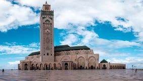 Mezquita de Hassan II en Casablanca Imagenes de archivo