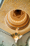 Mezquita de jeque Zayed adentro Foto de archivo