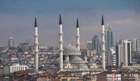 Mezquita de Kocatepe en Ankara Imagen de archivo