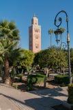 Mezquita de Koutoubia Foto de archivo libre de regalías