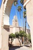 Mezquita de Koutoubia en Marrakesh. Foto de archivo libre de regalías