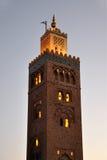Mezquita de Koutoubia en Marrakesh Imágenes de archivo libres de regalías