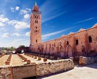 Mezquita de Koutoubia, Marrakesh, Marruecos fotografía de archivo