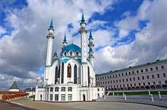 Mezquita de Kul-Sharif en Kazán el Kremlin Imágenes de archivo libres de regalías