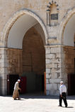 Mezquita de la Explanada de las Mezquitas y del al-Aqsa en Jerusalén Israel Fotos de archivo