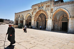 Mezquita de la Explanada de las Mezquitas y del al-Aqsa en Jerusalén Israel Fotos de archivo libres de regalías