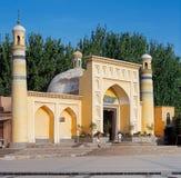 Mezquita de la identificación Kah, privince de Kashgar, Xinjiang, China Ésta es la mezquita más grande de China Es el lugar de cu Foto de archivo
