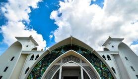 Mezquita de los estrechos de Malaca Imagen de archivo libre de regalías