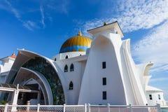 Mezquita de los estrechos de Malaca Fotografía de archivo