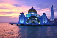 Mezquita de los estrechos de Malacca Fotografía de archivo libre de regalías