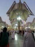 Mezquita de Madinah Nabawi foto de archivo libre de regalías
