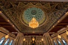 Mezquita de Qaboos del sultán imagen de archivo libre de regalías