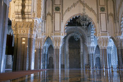 Mezquita de rey Hassan II Imagen de archivo libre de regalías