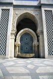 Mezquita de rey Hassan II - lavabo de colada Fotos de archivo libres de regalías