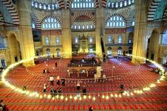 Mezquita de Selimiye en el shooting granangular Imagenes de archivo