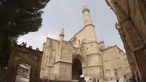 Mezquita de Selimiye en Nicosia almacen de metraje de vídeo