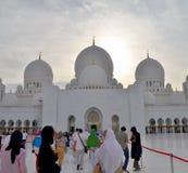 Mezquita de Sheikh Zayed en Abu Dhabi Fotos de archivo libres de regalías