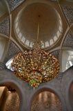 Mezquita de Sheikh Zayed en Abu Dhabi Imágenes de archivo libres de regalías