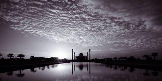 Mezquita de Tailandia en blanco y negro Fotografía de archivo libre de regalías