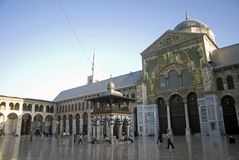 Mezquita de Umayyad, Damasco, Siria Imagenes de archivo