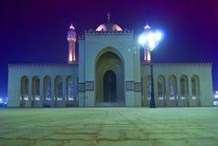 Mezquita del al-Fateh en la noche Foto de archivo libre de regalías
