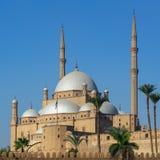 Mezquita del estilo de Ottoman gran de Muhammad Ali Pasha, ciudadela de El Cairo, una de las señales de El Cairo, Egipto imágenes de archivo libres de regalías