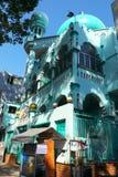 Mezquita del Islam en color ciánico de la visión inferior en Vietnam fotografía de archivo