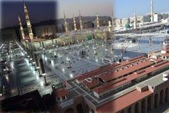 Mezquita del profeta de la oscuridad al mediodía Fotos de archivo libres de regalías