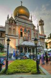 Mezquita del sultán, Singapur Fotos de archivo libres de regalías