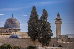 Mezquita en Jerusalén, el 3ro sitio más santo de Aqsa del Al del Islam fotografía de archivo