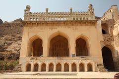 Mezquita en la fortaleza de Golconda, Hyderabad Foto de archivo libre de regalías