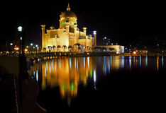 Mezquita en la noche Fotografía de archivo