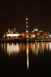 Mezquita en la noche fotografía de archivo libre de regalías