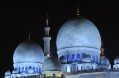 Mezquita en la noche, Abu Dhabi Fotografía de archivo