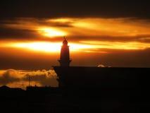 Mezquita en la puesta del sol Fotos de archivo