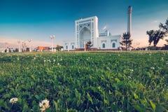 Mezquita en la puesta del sol Fotografía de archivo libre de regalías