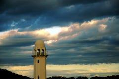Mezquita en la puesta del sol Fotos de archivo libres de regalías