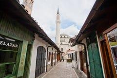Mezquita en las calles estrechas Fotografía de archivo libre de regalías