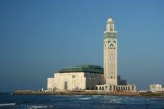 Mezquita famosa en Casablanca Foto de archivo libre de regalías
