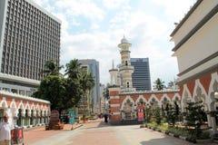 Mezquita famosa en Kuala Lumpur, Malasia - Masjid Jamek Fotos de archivo