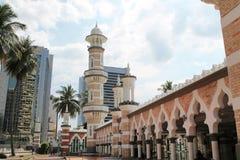 Mezquita famosa en Kuala Lumpur, Malasia - Masjid Jamek Imagen de archivo libre de regalías
