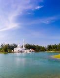 Mezquita flotante Foto de archivo libre de regalías