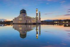 Mezquita flotante, Borneo Fotografía de archivo