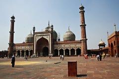 Mezquita grande en Nueva Deli en la India Imágenes de archivo libres de regalías