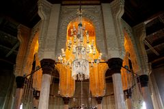 Mezquita interior del Islam imagenes de archivo