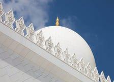 Mezquita magnífica - Abu Dhabi Fotos de archivo libres de regalías