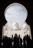 Mezquita magnífica Adu Dhabi Foto de archivo libre de regalías