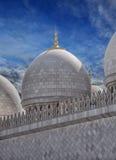 Mezquita magnífica de Abu Dhabi Foto de archivo libre de regalías