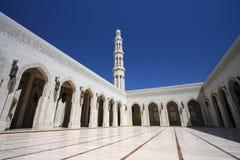 Mezquita magnífica de Qaboos del sultán Imágenes de archivo libres de regalías